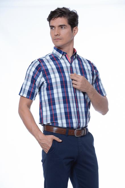 Camisa-Mc-Sport-Cuadros-Azul