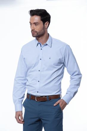 Camisa-Manga-Larga-Sport-Cuadros-Azul