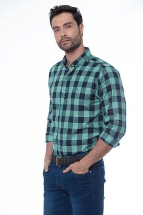 Camisa-Manga-Larga-Sport-Cuadros-Verde